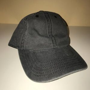 Faded Gray Hat with Strap